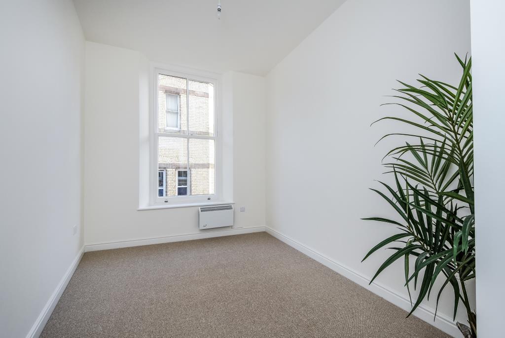 Bedroom with feature sash window