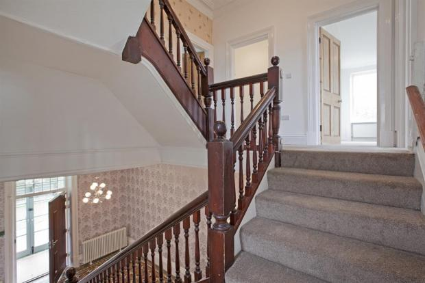 STAIRCASE TO FIRST AND SECOND FLOOR
