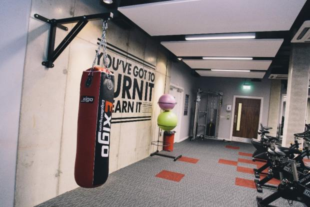 Huge on-site gym