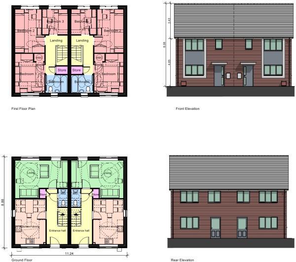 Three bedroom layout