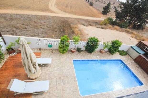 pool view from veranda