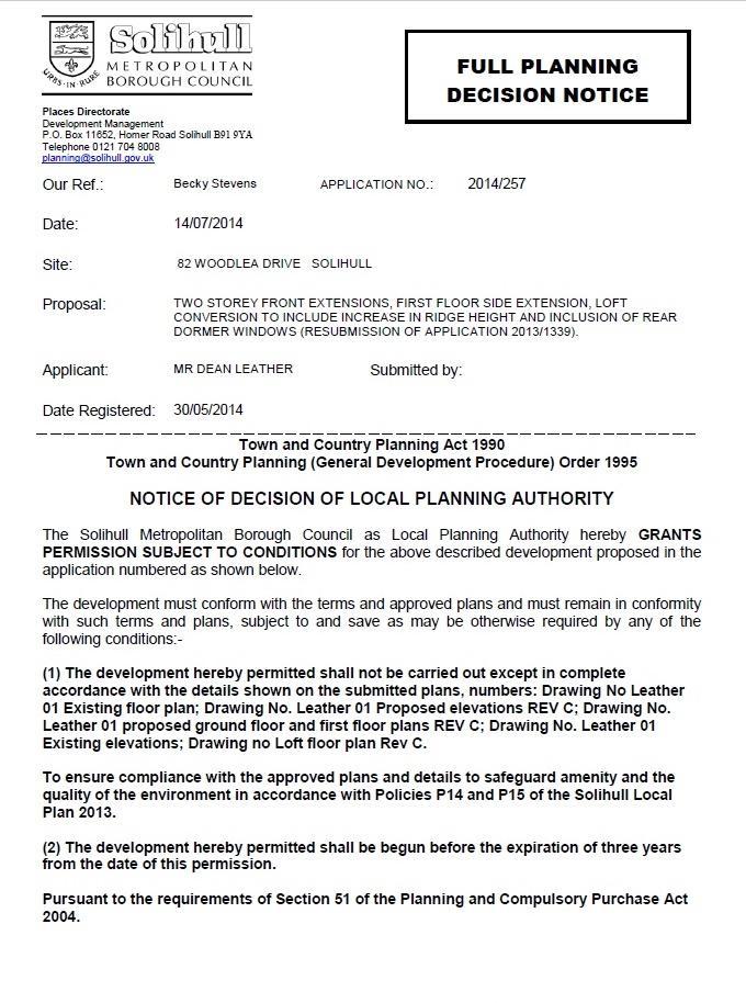 Planning Permission P1