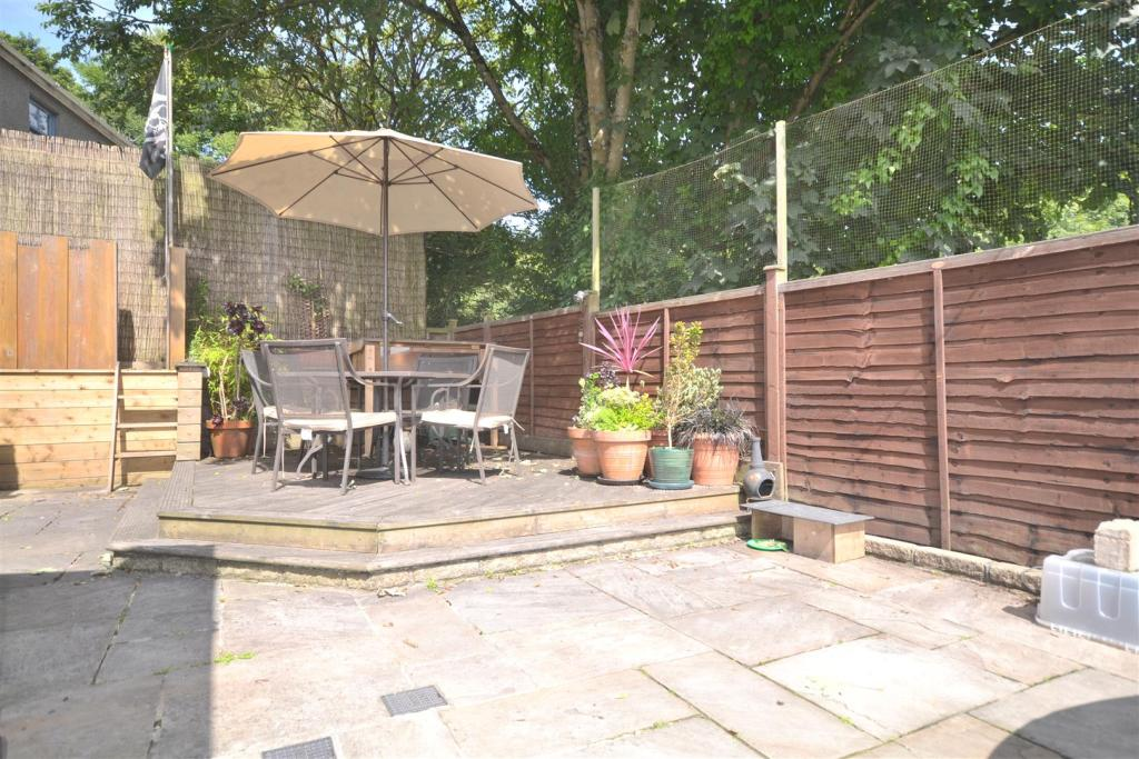 Decking and paved ar