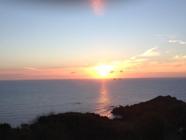 Sunrise from propert