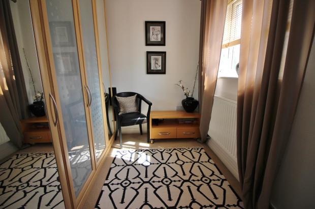 Dressing area off bedroom