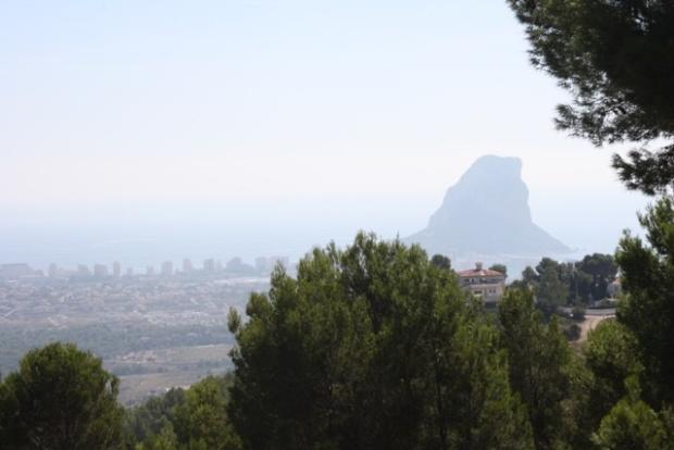 views to the sea, Calpe rock and bay of Moraira