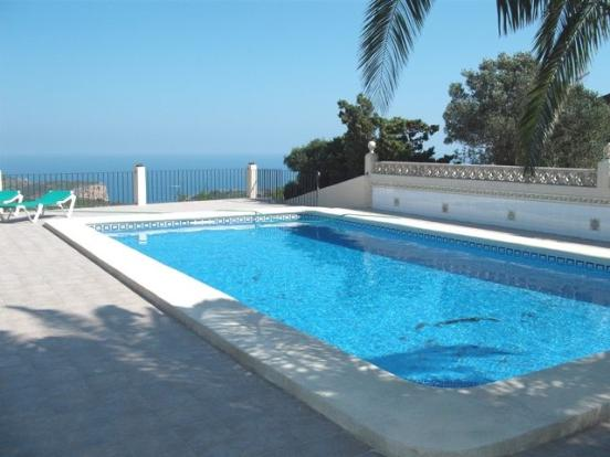 private pool with great views