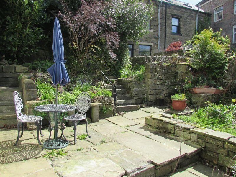 Steps from garden