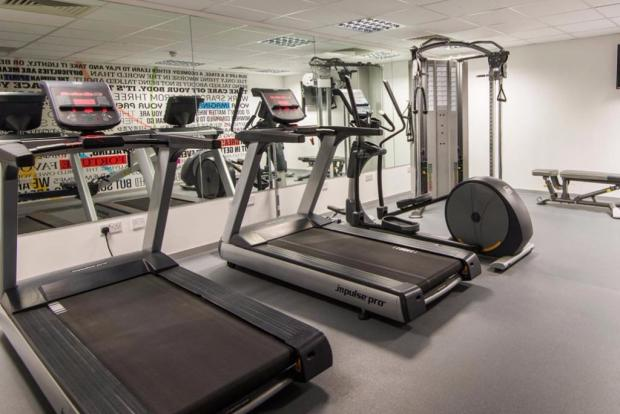 Private on-site gym