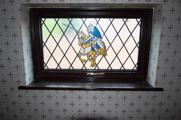 Landing Window With Stained Glass