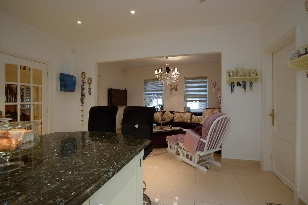Kitchen with family area/study