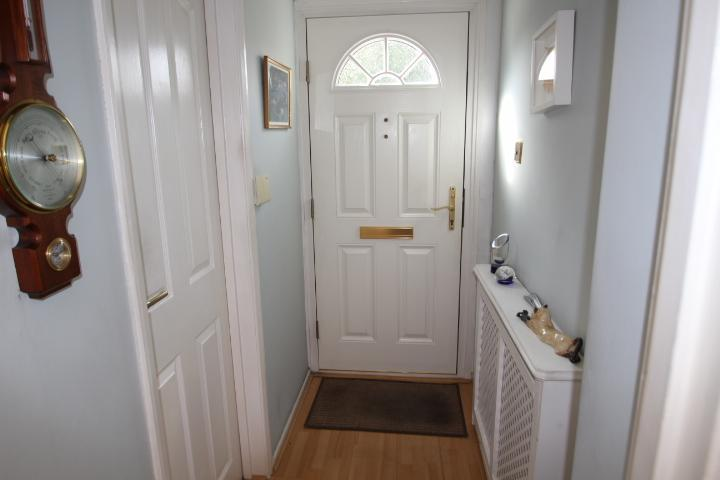 Hallway and door to cloakroom