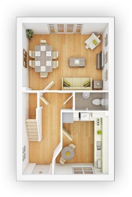 Taylor WImpey - Crofton G - GF Floor plan