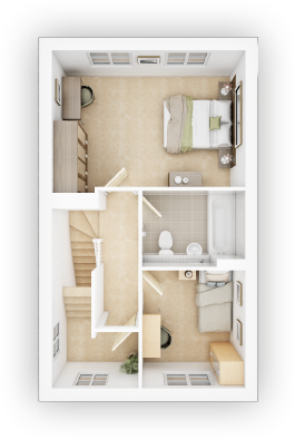 Taylor WImpey - Crofton G - FF Floor plan