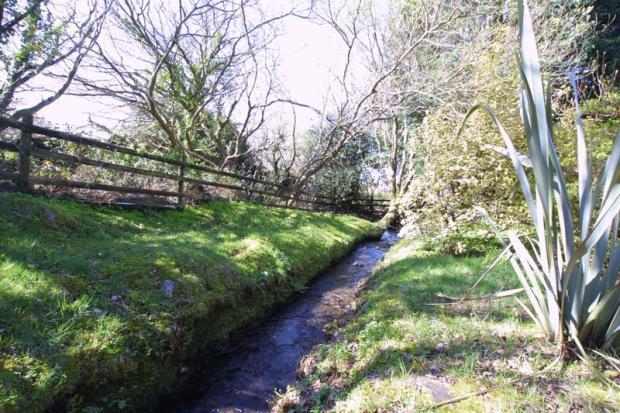 A stream runs along