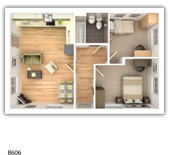 Taylor_Wimpey-Langley-2_bed-ground_level_plan_3d