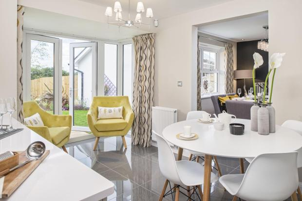 Typical Cambridge family and breakfast area with French doors