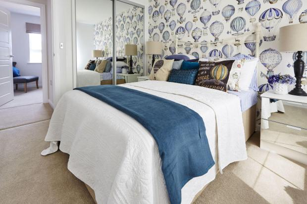 Yarnfield Park Somerfield show home third bedroom