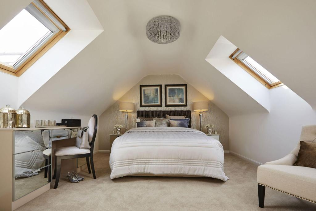 Yarnfield Park Somerfield show home master bedroom