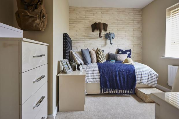 Yarnfield Park Somerfield show home fourth bedroom