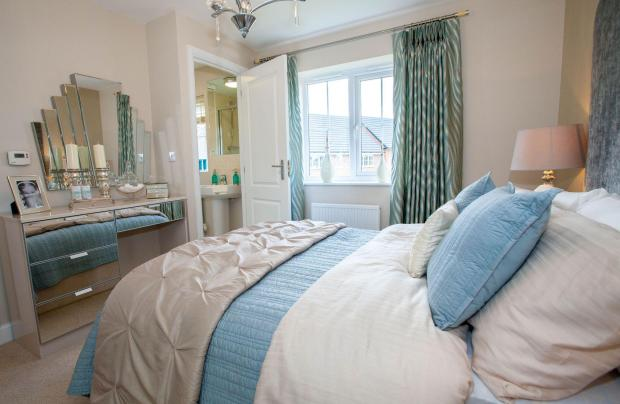 Typical Thornbury master bedroom with modern en suite