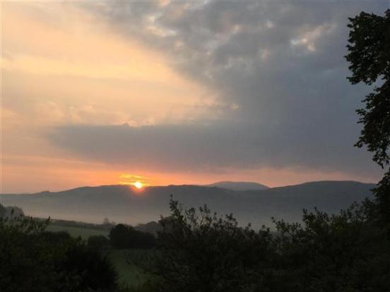 sunrise over the