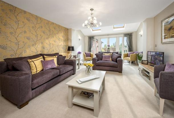 The Abingdon living room at Cissbury Chase, Worthing
