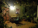 Patio at night