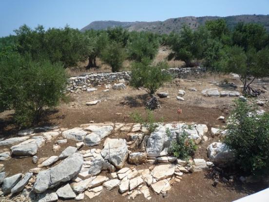 Natural rocky garden
