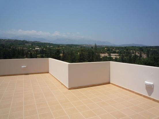 Tiled roof terrace