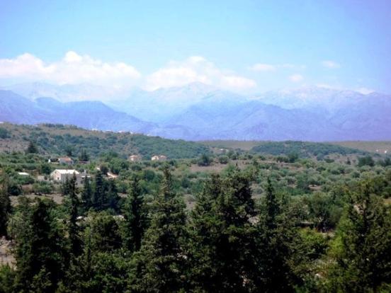 White mountain view