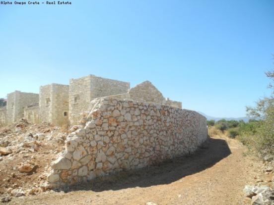 Stone boundary wall