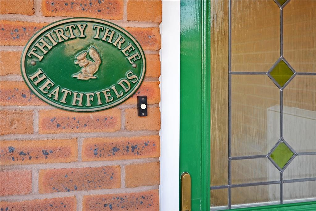 33 Heathfields Name Plate