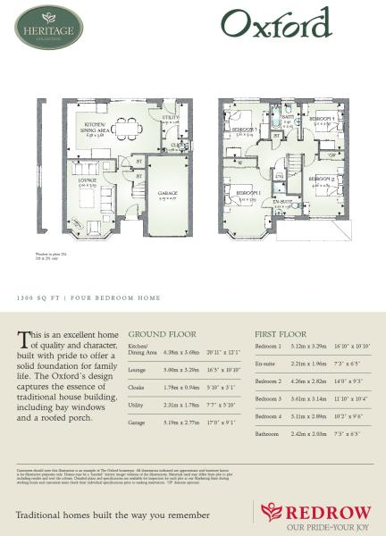 4 bedroom detached house for sale in rochester road upper for Oxford floor plan