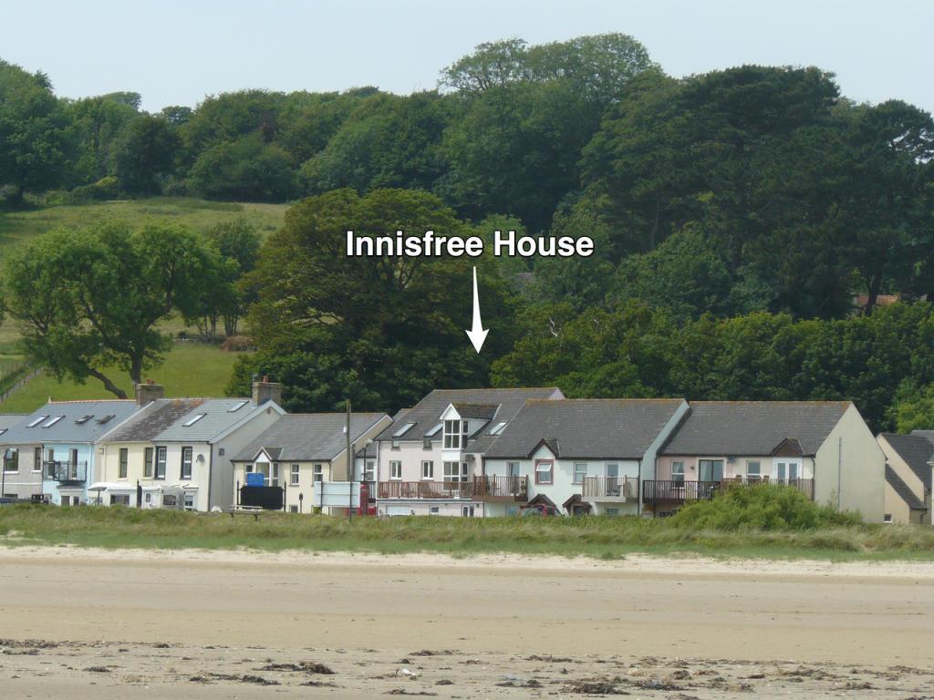 View of Innisfree House from Llansteffan beach.
