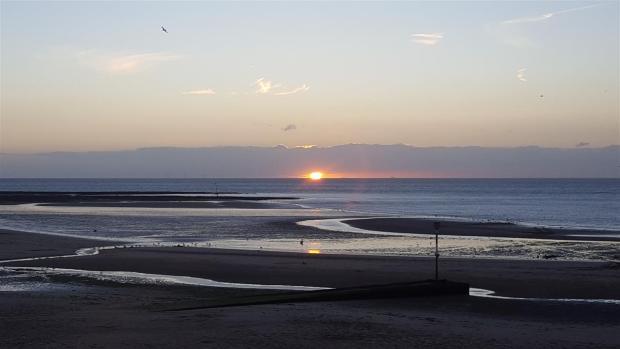 Margate sands sunset