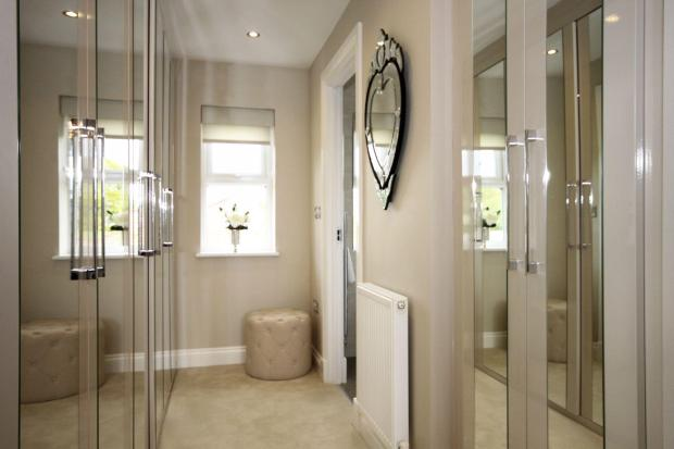 Winstone master bedroom dressing area