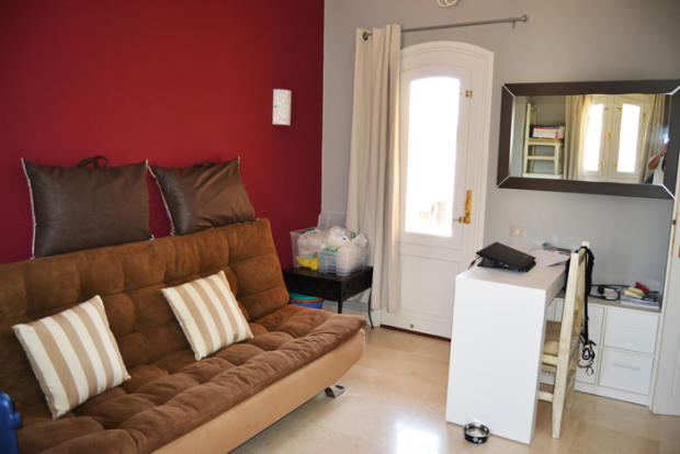 bedroom with sofabed