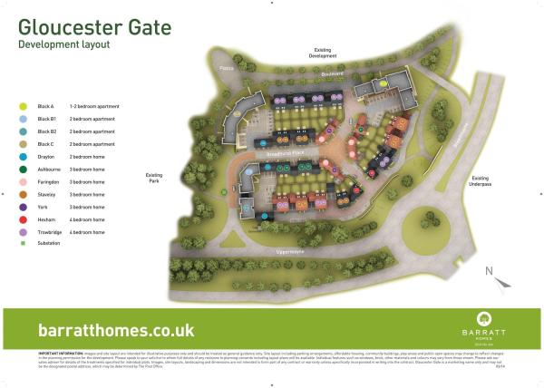 Gloucester Gate New Homes Development By Barratt Homes