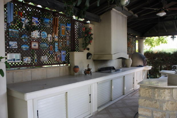 the barbeque area