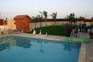 pool area & garden