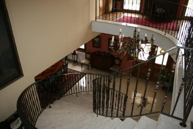 the stairs from upst
