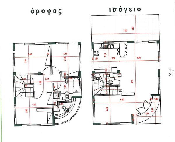 Plan of ground and f