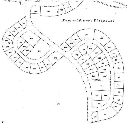Topographic plan of