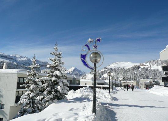 Road to ski lift
