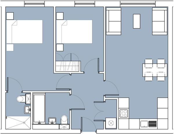 Two Bedroom 1 Level