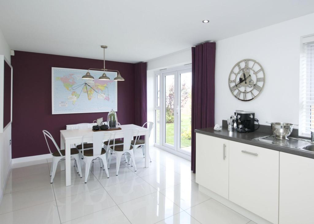 Typical Colchester kitchen and dining area with French doors