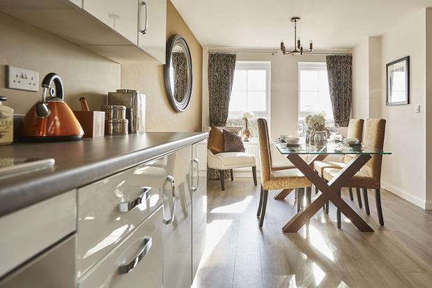 Typical Thornbury kitchen and dining