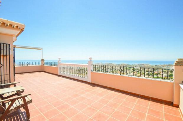Main terrace & views