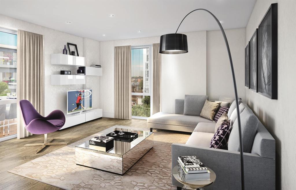 Living room CGI Nine